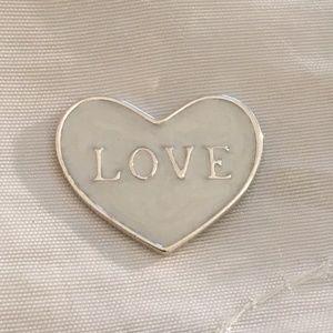 Pandora Love Heart Locket Plate Floating Charm